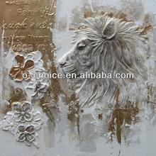 Modern wall decorative large size canvas oil paintings of lion