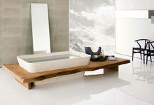 Teak Slab Bathroom, Solid Wood Slab Dining Table
