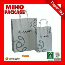 brown kraft paper bag with jute handle