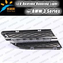 New 2X Car 6 LED DRL Driving Daytime Running Day LED Light Head Lamp Super White drl light for BMW 3 series E90