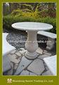 granito jardim mesa redonda