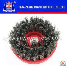 Special round shape diamond abrasive brush grinding and polishing marble, granite, concrete, porcelain tiles, etc