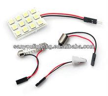For Car Decoration T10 12SMD LED Dome Panel Light DC 12V