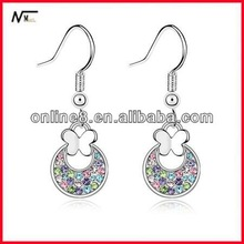 Free Shipping nice service Earrings,Wholesale Crystal High Quality Fashion Earrings earring