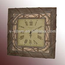 MN-VS0965 Antique rattan decorative wall clock