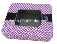 2013 New Design High Quality Hot sale tin for for watch/wallet/jewel displaying
