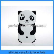 panda design silicon animal case for iphone 4