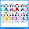 2013 New arrival panda series 3d silicone rubber phone case for Apple iphones