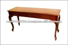Solid Mahogany Wood Carved Console Table