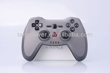 2.4G wireless ABS silver gray upper shell UV paiting two vibration fashionable game controller for PS3