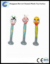 Cartoon animal hot sales eco plastic promotional banner ballpoint pen/ballpen