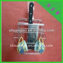 chrome plated kitchen utensil holder/knife stand