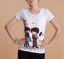 Customized Womens Brand Cotton Polyester Printed T shirts