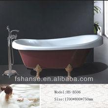 HS-B506 hot sale claw foot bath tubs,cheap baths,bathtub new 2012