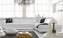 Living Room Furniture 1+2+3 Practical Furniture L Shape Leather Corner Sofa Leather Custom Ostrich Puffs Manufacturers 9108-4