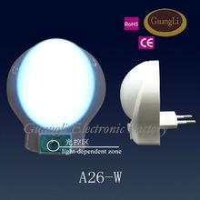 - CE/ROHS - plastic led night light sensor rotation