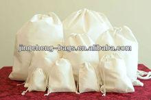 (Item No.:JC-C16) New Style 100% Cotton Custom Logo Small Cotton Drawstring Bags