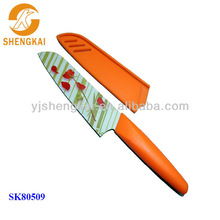 1pc stainless steel knives chef in orange handle