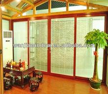 Foshan economical security door with blinds
