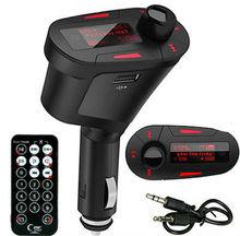 Kit Car MP3 Player Wireless FM Transmitter Modulator, USB / SD / MMC, LCD, Remote Remote