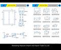 Ventanas de aluminio haciendo materiales/perfiles de aluminio para puertas y ventanas