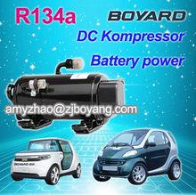 R134a dc ac compressor for electric mini-van electric car