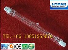 J78 r7s iodo lâmpada de tungstênio 130v 400w com ce, tipo j lâmpada de halogéneo tubular