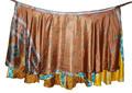 Senhoras de seda wrap em torno de saias - wrap saias de seda - duas camadas de seda wrap em torno de saias