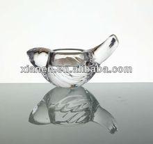 Glass Bird shape tealight holder