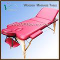 Portátil Spa mesa de massagem cama, Spa cama de massagem equipamentos, Sólida de madeira sauna