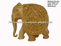 wooden statue-elephant,Elephant Wooden carving, elephant sculpture