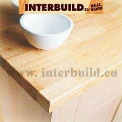 Finger Joint Laminated board/ panel/ worktop/ Countertop/ solid wood shelving Rubberwood (FJLB)