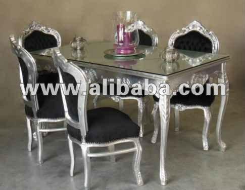 Neo rococo plata moderno muebles de estilo barroco sillas - Muebles estilo barroco moderno ...