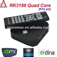 Acemax new product IPTV418, android 4.2.2 internet stream tv box