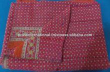 vintage kantha Quilt Reversible 100% cotton Quilts/Throw/Blanket/Gudari