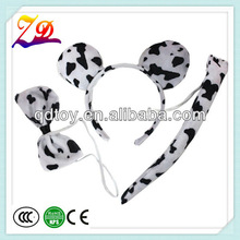 leopard ears headband / tail / bow tie set,fancy dress for party supply