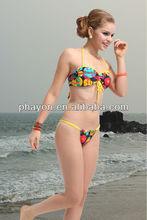 OEM&ODM bandeau ruffle mini serge fotos de bikinis transparentes