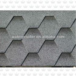 Colorful Hexagonal Asphalt Shingle Tile Roof