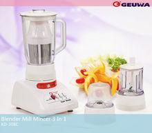 geuwa electric plastic bpa free food processor chopping vegetables KD-308C