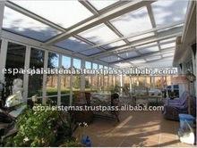 Spain Aluminum Glass Sunroom and Glass Houses