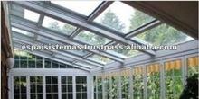Spain Conservatory Retractable Aluminium Glass Roof