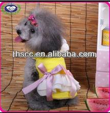 Top sale pet products yellow pet dog dress wholesale