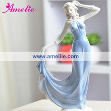 AT018 Modern European Girl With Dress Ceramic Classic European Decorations