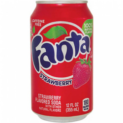 Fanta (Orange / Lemon / Exotic Danish) 24x33cl cans