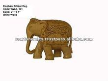 carved indian elephant/wooden elephants india