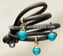 Tiger eye bracelet diamond beads high polished lady's bracelet