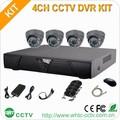 H 264 sistema de segurança 4 pcs ao ar livre bala 1000tvl câmeras IR CUT cctv 4ch dvr kit
