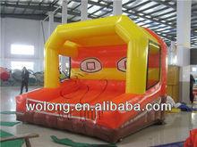 Amusement park inflatable basketball court / inflatable basketball game / outdoor sports game