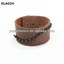 Luxury magnetic fashion genuine cow leather bracelet