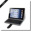 Folio fabric leather case bluetooth keyboard for iPad Mini 2